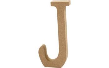"""Tūrinė medinė raidė dekoravimui """"J"""", 13cm"""