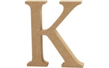 """Tūrinė medinė raidė dekoravimui """"K"""", 13cm"""