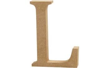 """Tūrinė medinė raidė dekoravimui """"L"""", 13cm"""