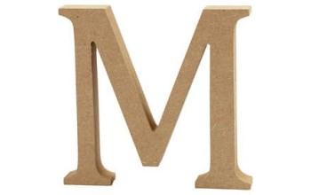 """Tūrinė medinė raidė dekoravimui """"M"""", 13cm"""