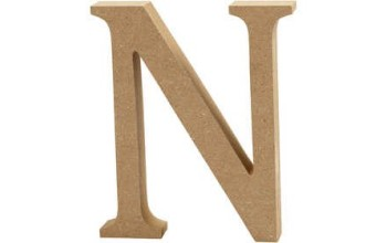 """Tūrinė medinė raidė dekoravimui """"N"""", 13cm"""