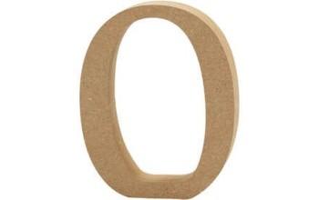 """Tūrinė medinė raidė dekoravimui """"O"""", 13cm"""