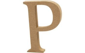 """Tūrinė medinė raidė dekoravimui """"P"""", 13cm"""