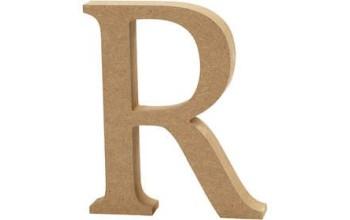 """Tūrinė medinė raidė dekoravimui """"R"""", 13cm"""