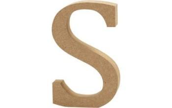 """Tūrinė medinė raidė dekoravimui """"S"""", 13cm"""