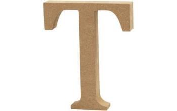 """Tūrinė medinė raidė dekoravimui """"T"""", 13cm"""