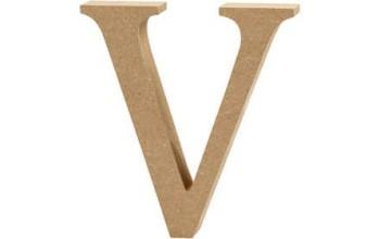 """Tūrinė medinė raidė dekoravimui """"V"""", 13cm"""