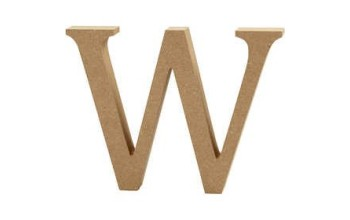 """Tūrinė medinė raidė dekoravimui """"W"""", 13cm"""