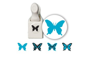 "Dek. skylamušis su antspaudukais ""Butterfly stamp and punch"""