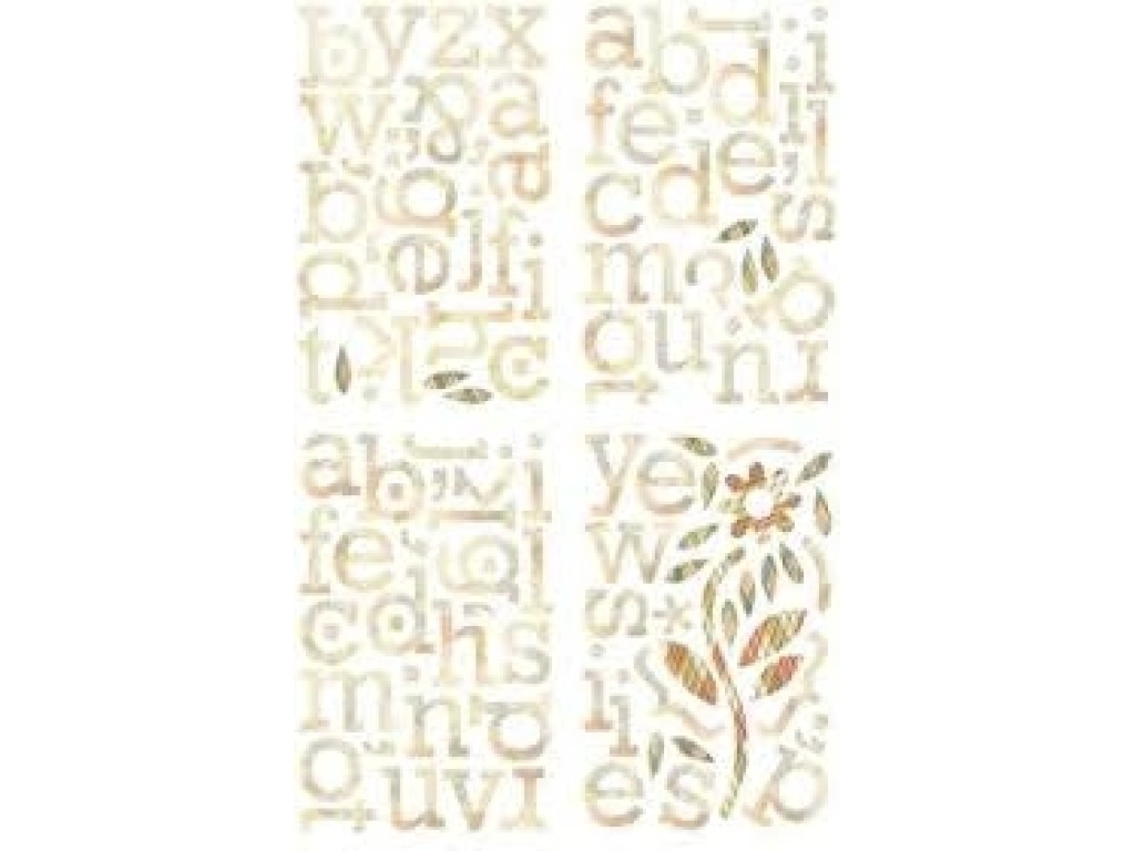 "Kartoniniai lipdukai ""BasicGrey: Jovial ABC Chips Stickers"", 130vnt."