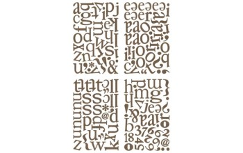 "Kartoniniai lipdukai ""BasicGrey: Pyrus ABC Chips Stickers"", 150vnt."