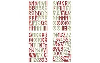 "Kartoniniai lipdukai ""BasicGrey: Wassail ABC Chips Stickers"""
