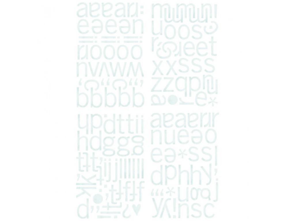 "Kartoniniai lipdukai ""BasicGrey: Marjolaine ABC Chips Stickers"", 160vnt."