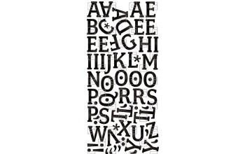 """Lipdukai """"BasicGrey: Max & Whiskers mini mono stickers"""""""