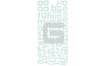 """Lipdukai """"BasicGrey: Capella mini mono stickers"""""""