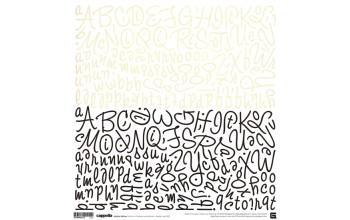"""Lipdukai """"BasicGrey: Cappella alphabet stickers"""""""