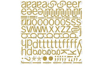 """Lipdukai """"Basic Grey: Wisteria mini monogram stickers"""""""