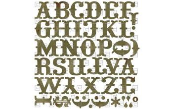 "Lipdukai ""Basic Grey: Wassail bon bon monogram stickers"""