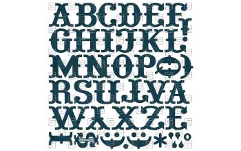 "Lipdukai ""Basic Grey: Marrakech monogram stickers"""
