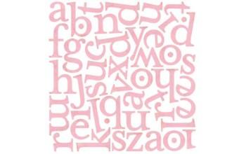 """Lipdukai """"Basic Grey: Bittersweet monogram stickers"""""""