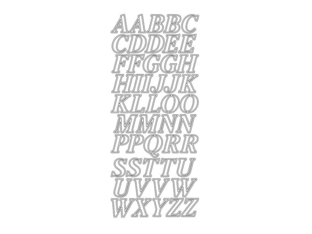 "Peel-off lipdukai ""Contour Alphabet Gold"""