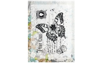 "Akriliniai antspaudukai ""Silhouette Butterfly"", 1vnt."
