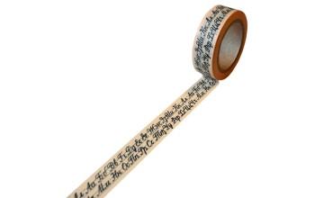 """Lipni popierinė juostelė """"Washi tape Big and Small Letters"""""""