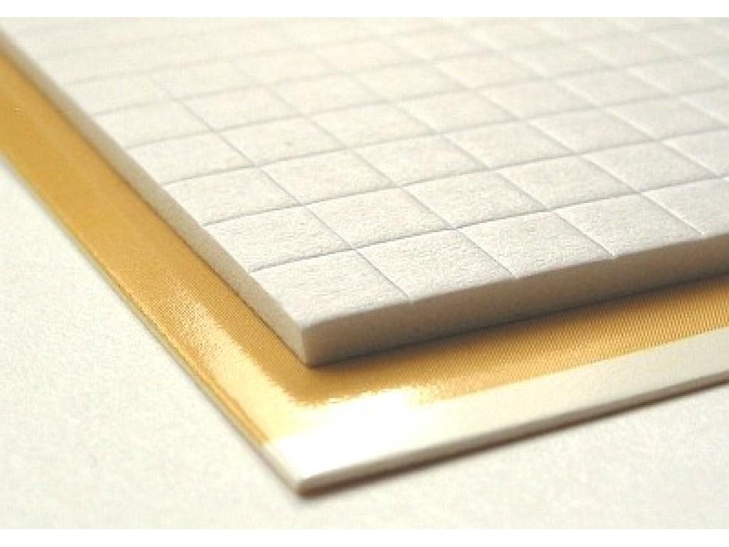 3D dvipusiai lipnūs kvadratėliai 0,5x0,5cm, storis 3mm
