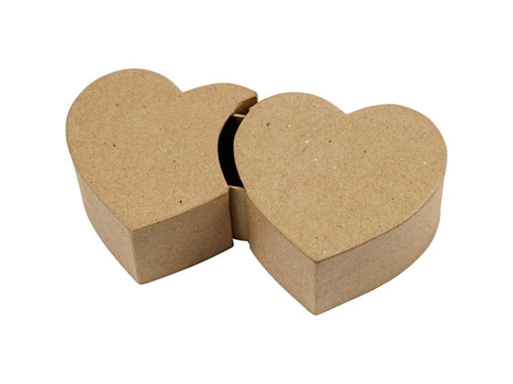 """Kartoninė atsidaranti dėžutė """"Double Heart Box"""""""