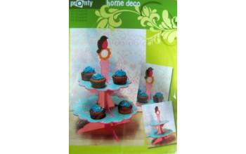 "Lentynėlė pyragėliams ""MDF 3D Cupcake cabinet with bird"""