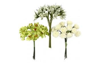 """Popierinės gėlės """"Flowers: lime green"""", 36vnt."""