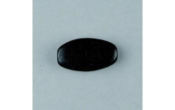 Juodas ovalus medinis karoliukas 30x15mm