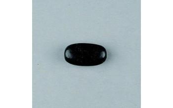 Juodas ovalus mažas medinis karoliukas 20x12mm