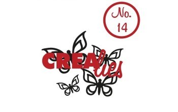 "Akriliniai antspaudukai ""Bits&Pieces No. 14 Butterfly"", 4vnt."