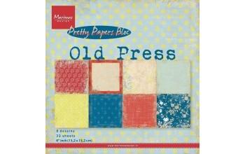 """Popieriaus rinkinys """"Old Press"""" 15,2x15,2cm"""