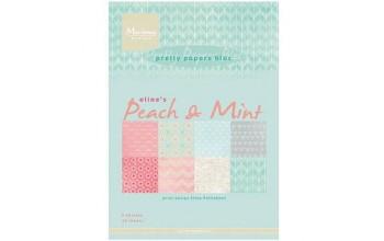 """Popieriaus rinkinys """"Peach & Mint"""", 32 lapai"""