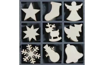 """Medinių formelių rinkinys """"Christmas Shapes"""", 45vnt."""