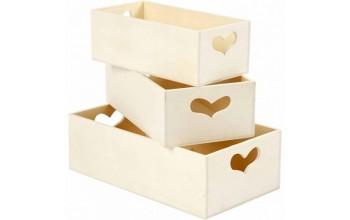 Medinė dėžutė, 15,8x7,8x5,5cm, 1vnt.