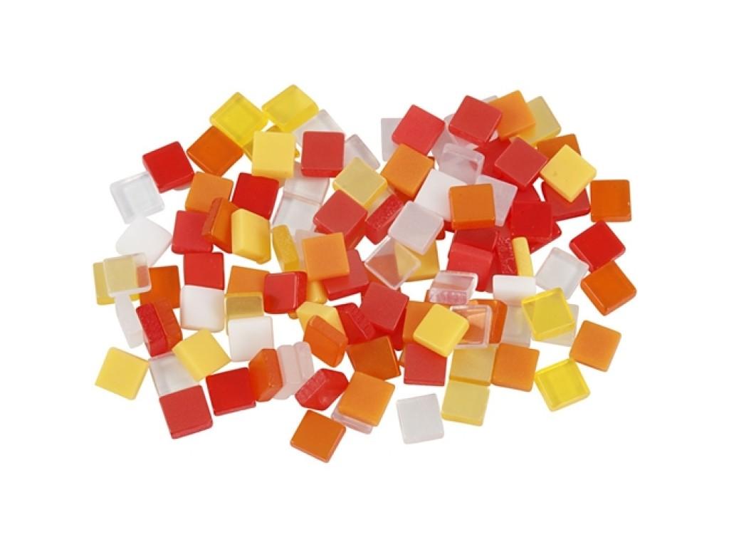 """Mozaika 5x5x2mm """"Red/Orange Harmony"""""""