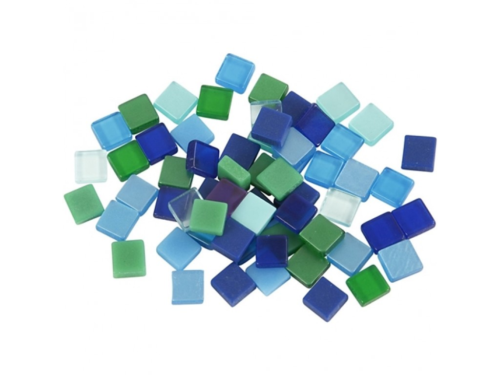 "Mozaika 5x5x2mm ""Blue/Green Harmony"""