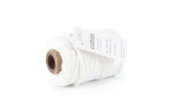 """Medvilninė virvelė """"Cotton fine white"""", 50m"""