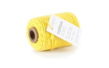 """Medvilninė virvelė """"Cotton fine yellow"""", 50m"""