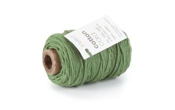 "Medvilninė virvelė ""Cotton fine dark green"", 50m"