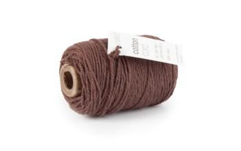 """Medvilninė virvelė """"Cotton fine brown"""", 50m"""