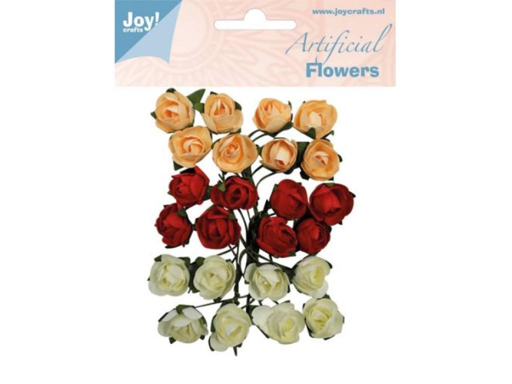 """Popierinės gėlės """"Artificial Flowers 14"""", 24vnt."""