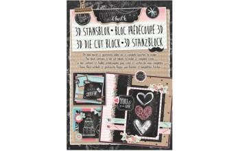 """Lapų su paveikslėliais rinkinys """"Studio Light: Chalk"""", 12 lapų"""
