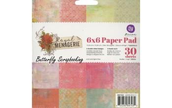 """Popieriaus rinkinys """"Prima: Royal Menagerie"""" 15,2x15,2cm"""