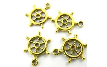 """Metalinis pakabukas """"Aukso spalvos Vairas"""", 1vnt."""