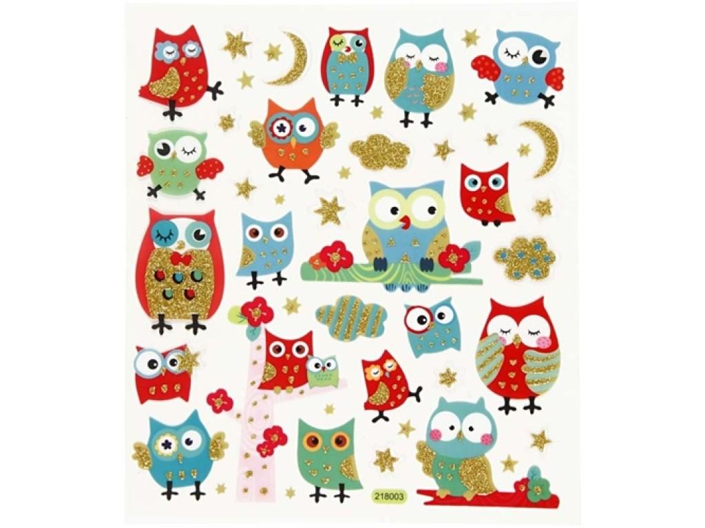 """Lipdukai """"Glitter Owls"""""""