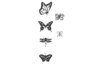 "Guminių antspaudų rinkinys ""Butterflies"", 7vnt."
